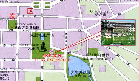 西安唐华宾馆 地图